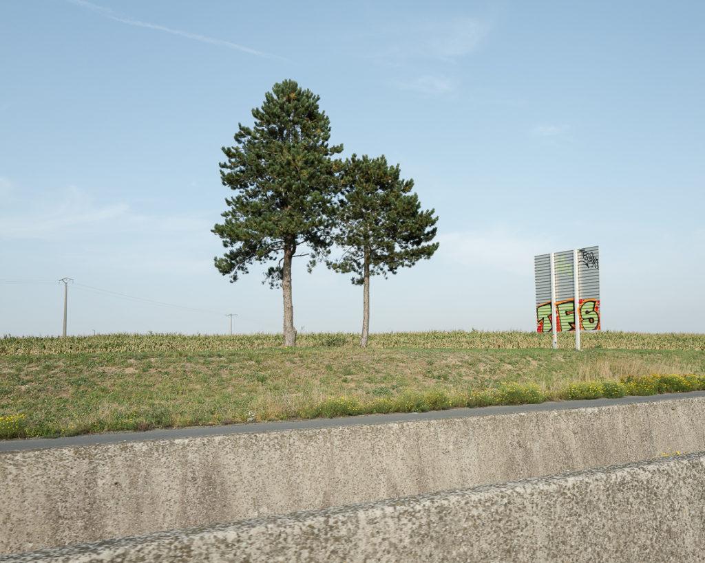 Landscape photo highway north of france